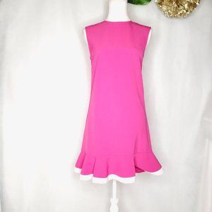 Victoria Beckham for target pink dress with ruffle